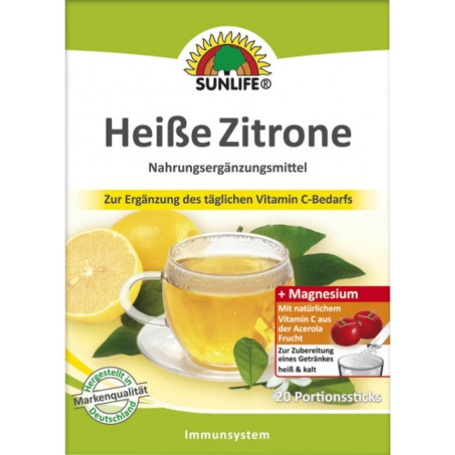 Sunlife Heisse Zitrone Sticks 20er