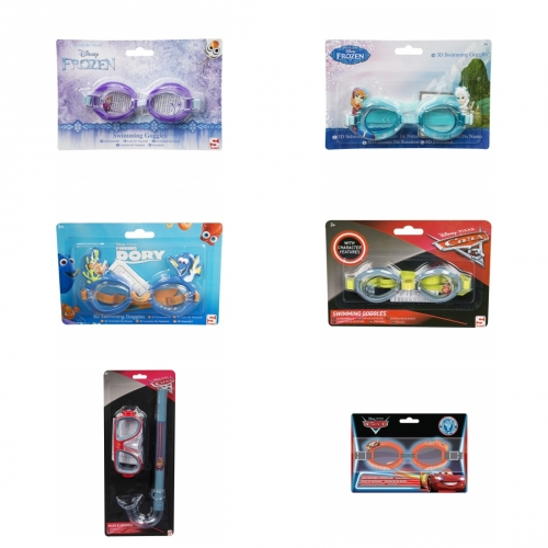 Schwimmbrille Frozen, Dory, Cars, Star Wars