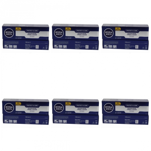 6 x Nivea Men Protect & Care Rasiercreme Rasur 100ml