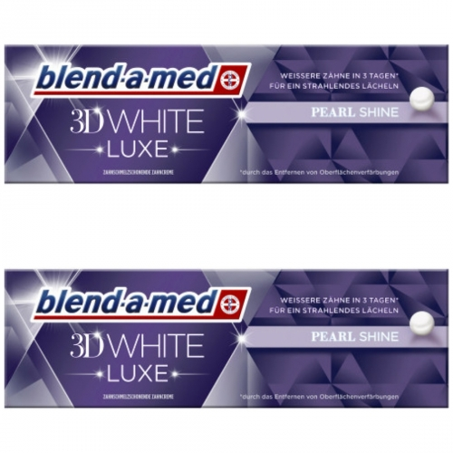 2 x blend-a-med 3D white luxe pearl 75ml Tube