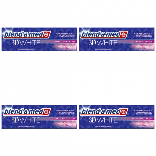 4 x Blend-a-med 3D White Vital Fresh 75ml Tube