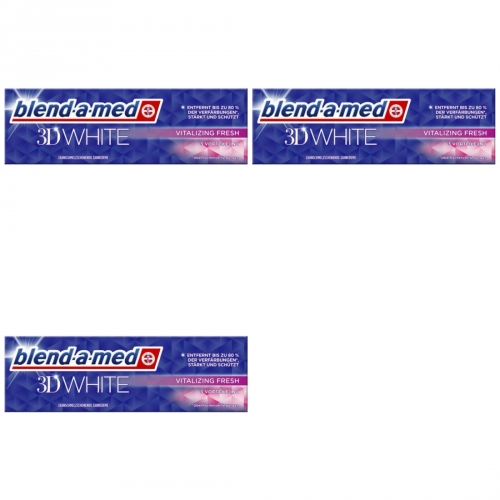 3 x Blend-a-med 3D White Vital Fresh 75ml Tube