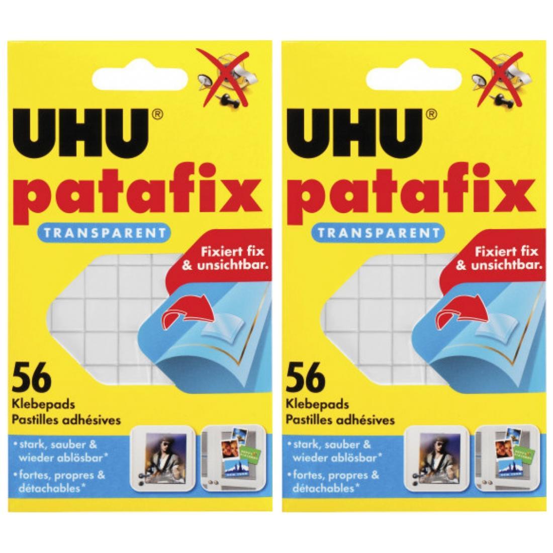 20 x Uhu Patafix transparent