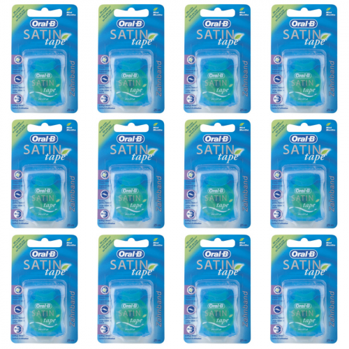 12 x Oral-B Satin-Tape 25 Meter