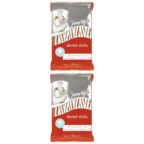 2 x JedenTag Hund dental sticks 7er 180g