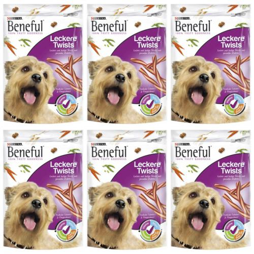 6 x Beneful leckere Twists 175g Beutel