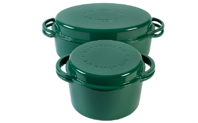 Big Green Egg Dutch Oven Grün oval