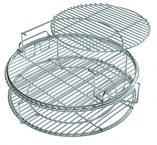 Big Green Egg Stainless Stell Half Grids Größe XL