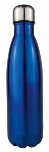 Thermoflasche blau-metallic