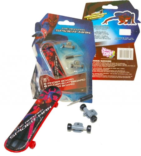 The AMAZING SPIDER-MAN Finger Skateboard 10cm Spiderman