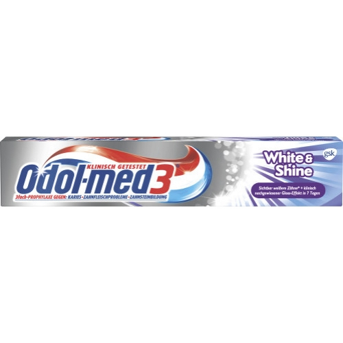 Odol Med3 Zahncreme White + Shine 75ml Tube