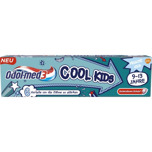 Odol Med3 Zahncreme Cool Kids 75ml Tube