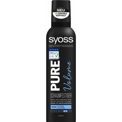 Syoss Pure Volume Schaumfestiger Haltegrad 3 200ml