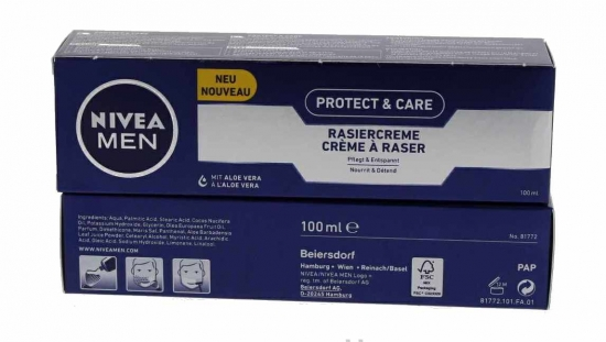 Nivea Men Protect & Care Rasiercreme Rasur 100ml